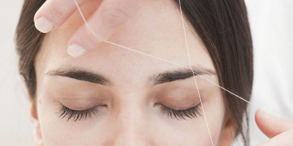اپیلاسیون یا برداشت مو ها با نخ اصلاح